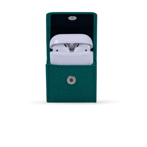 AirPods Case - Sea Green - Goat Leather