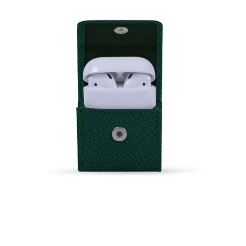 AirPods Case - Dark Green - Goat Leather