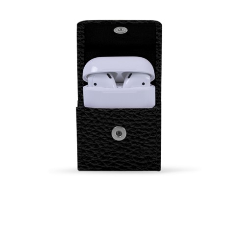 AirPods Case - Black - Granulated Leather