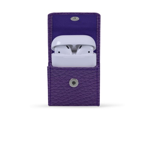 AirPods Case - Lavender - Granulated Leather