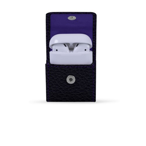 AirPods Case - Purple - Granulated Leather