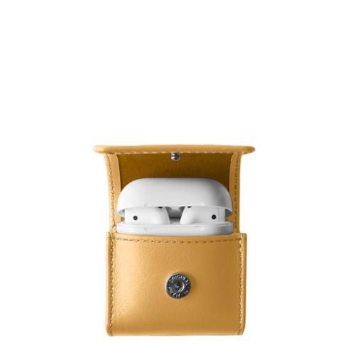 AirPods-Etui - Senfgelb - Glattleder