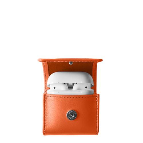 AirPods-Etui - Orange - Glattleder