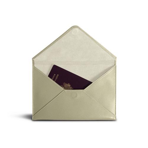 Medium envelope - Off-White-Mouse-Grey - Goat Leather