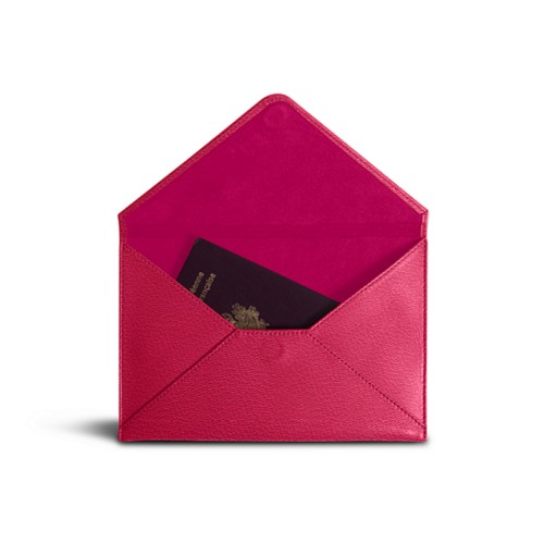 Medium envelope - Fuchsia-Orange - Goat Leather