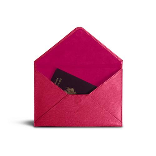 Medium envelope - Fuchsia-Orange - Goat Leather