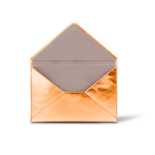 中判 封筒型ケース - Orange - Metallic Leather
