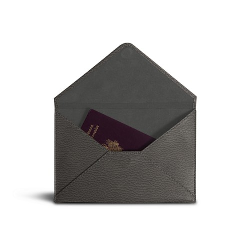 Medium envelope - Mouse-Grey - Granulated Leather