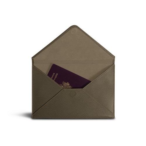 Medium envelope - Dark Taupe - Granulated Leather