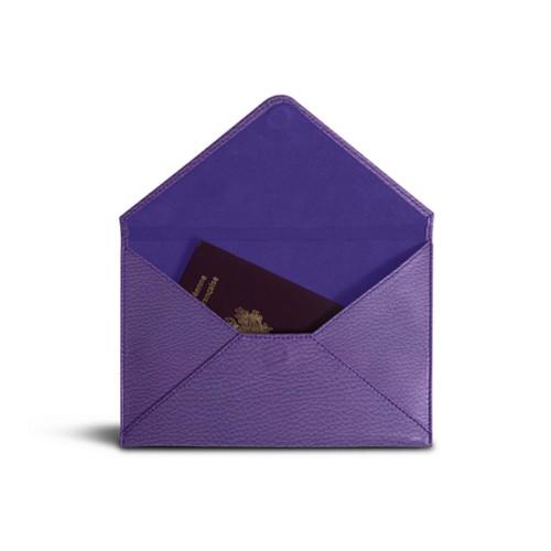 Medium envelope - Lavender - Granulated Leather