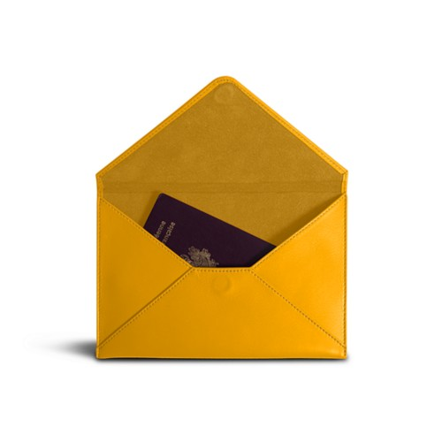 Medium envelope - Sun Yellow - Smooth Leather