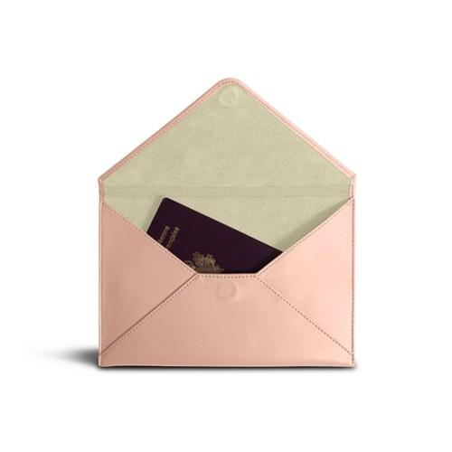 Medium envelope - Nude - Smooth Leather