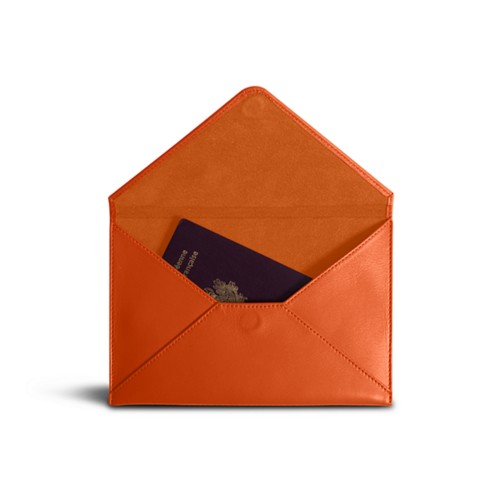 Medium envelope - Orange - Smooth Leather
