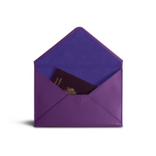 Medium envelope - Lavender - Smooth Leather