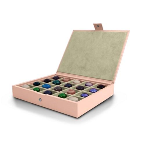 Box für Nespresso-Kapseln - Nude - Glattleder