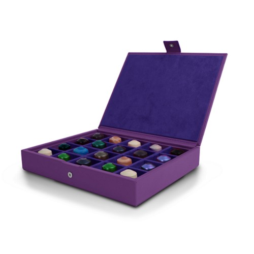 Box for Nespresso Capsules - Lavender - Smooth Leather