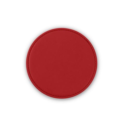 Untersetzer für HomePod - Rot - Glattleder
