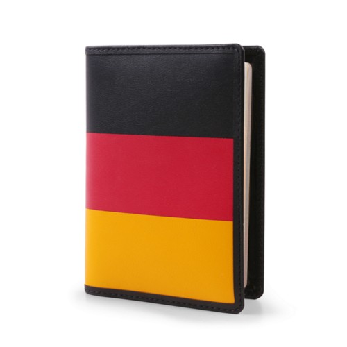 German passport holder - Flag - Smooth Leather