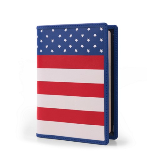 American Passport Holder - Flag - Smooth Leather