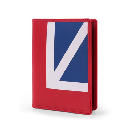 British Passport Holder - Flag - Smooth Leather