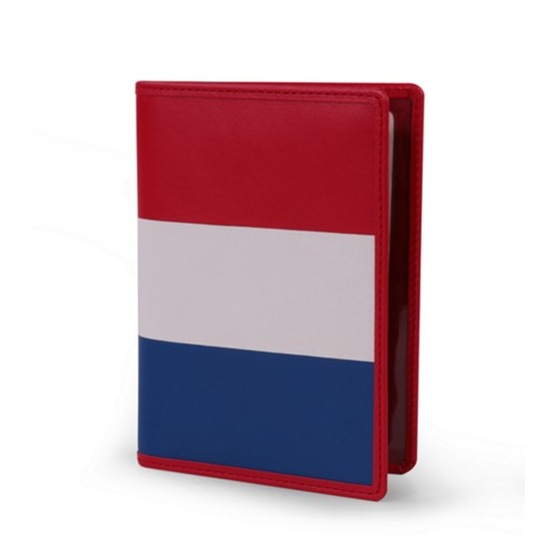 Dutch passport holder - Flag - Smooth Leather