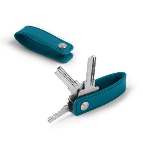 Keychain - Turquoise - Smooth Leather
