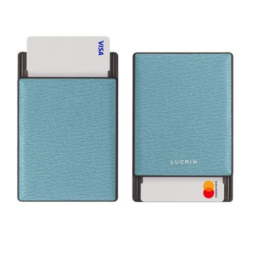 RFID Blocking Cards Holder - 6 - Sky Blue - Goat Leather