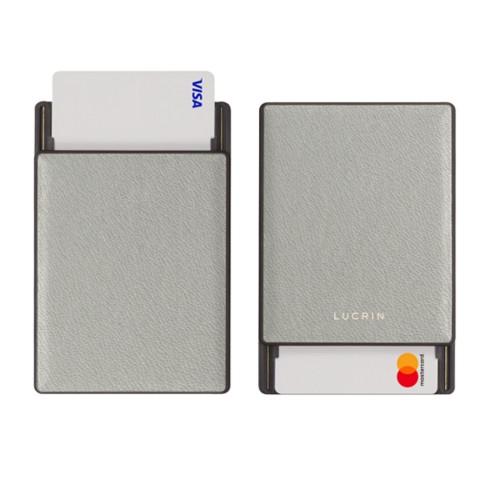 RFID Blocking Cards Holder - 6 - White - Goat Leather