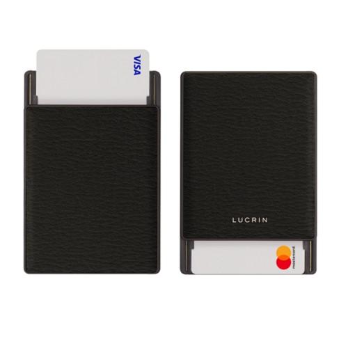 RFID Blocking Cards Holder - 6 - Mouse-Grey - Goat Leather