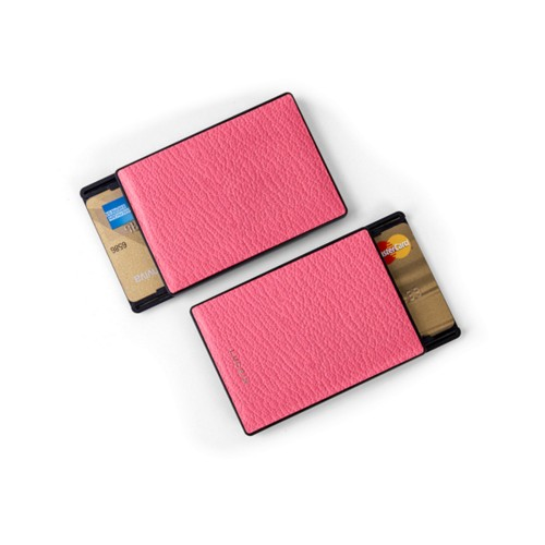 RFID Blocking Cards Holder - 6 - Pink candy - Goat Leather
