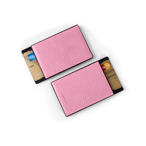 RFID Blocking Cards Holder - 2 - Pink - Goat Leather