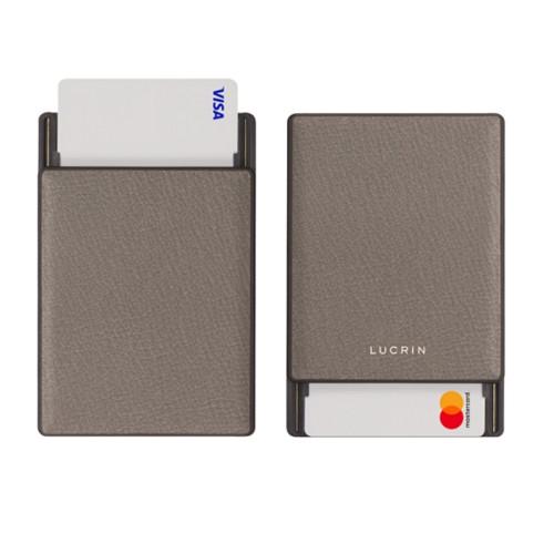 RFID Blocking Cards Holder - 2 - Light Taupe - Goat Leather