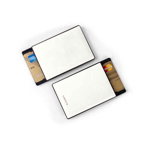 RFID Blocking Cards Holder - 2 - White - Smooth Leather