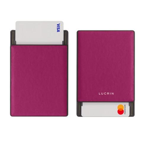 RFID Blocking Cards Holder - 2 - Fuchsia  - Smooth Leather