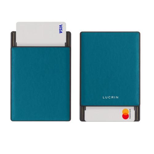 RFID Blocking Cards Holder - 2 - Turquoise - Smooth Leather