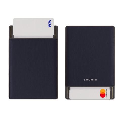 Tarjetero con bloqueo RFID - 2 - Violeta - Piel Liso