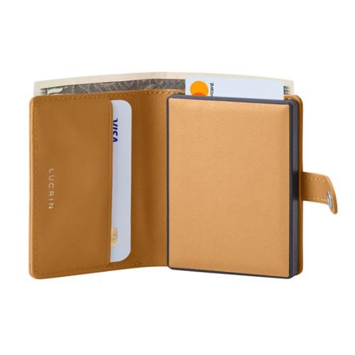 Porte cartes et billets Anti RFID - 2 - Naturel - Cuir Lisse