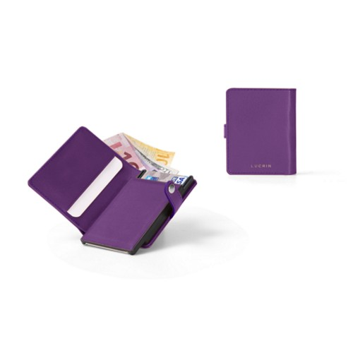 Billfold compact RFID Blocking wallet - 6 - Lavender - Smooth Leather