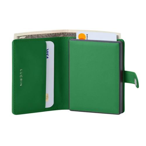 Cartera compacta con bloqueo RFID - 2 - Verde claro - Piel Liso