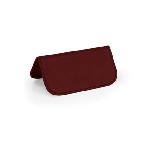 Wedding Place Card - Burgundy - Smooth Leather