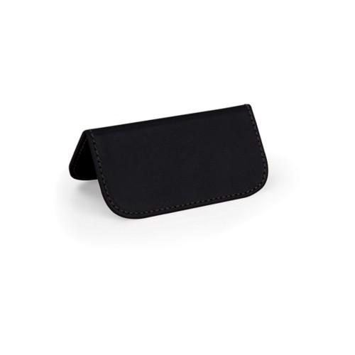 Marque place - Noir - Cuir Lisse