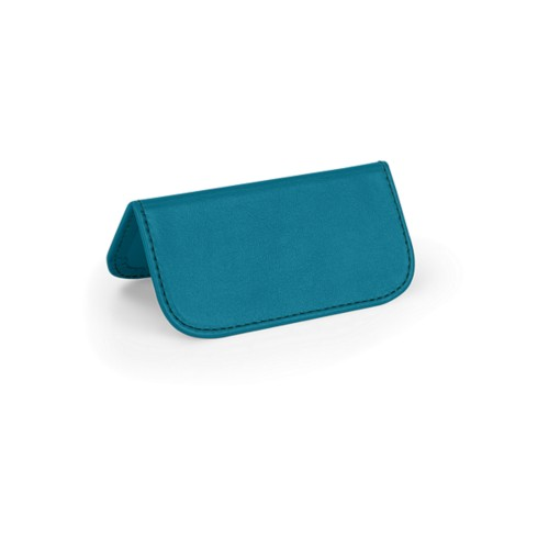 Wedding Place Card - Turquoise - Smooth Leather