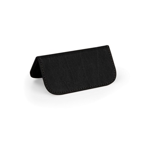 Wedding Place Card - Black - Bonded Leather