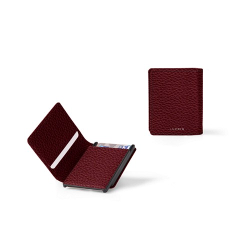 Cards case wallet - B - Burgundy - Granulated Leather