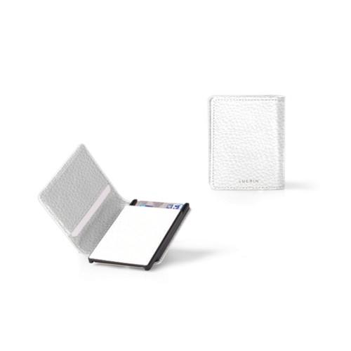 Porte Carte Bancaire - 6 - Blanc - Cuir Grainé