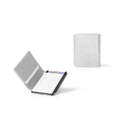 Cards case wallet - B - White - Granulated Leather