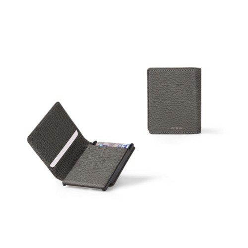 Cards case wallet - 2 - Mouse-Grey - Granulated Leather