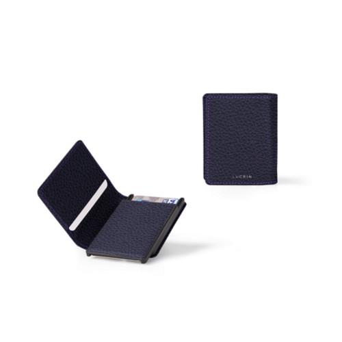Kartenetui-Brieftasche - 2 - Violett - Genarbtes Leder