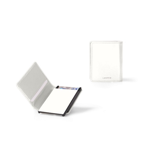 Cards case wallet - B - White - Smooth Leather