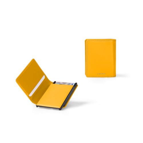 カードケースウォレット - B - Sun Yellow - Smooth Leather